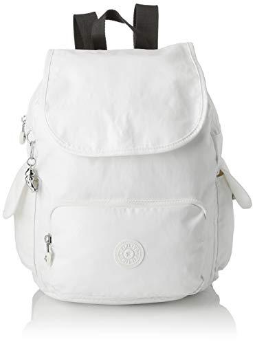 Kipling Damen City Pack S Rucksack, Weiß (White Metallic), 27x33.5x19 cm