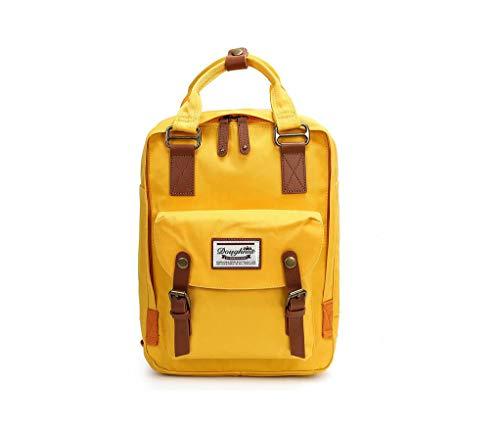 LIYULI Damen Outdoor Rucksack Mode Schulrucksack für Mädchen Backpack Rucksack Schulrucksack rucksäcke mit Laptopfach für Camping Outdoor Sport (Gelb)