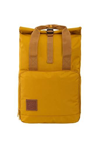 M13 RollTop Daypack - wasserdichter Roll Top Rucksack (15L), Kurierrucksack mit Innenfach, wasserabweisendes Material, verstellbare Gurte (Manufaktur13) (Mustard)