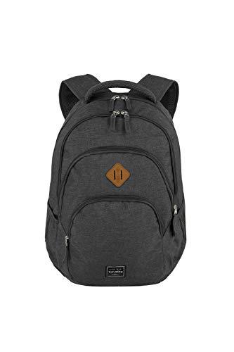 Gepäck Serie BASICS Daypack Melange: Modischer travelite Rucksack in Melange Optik, Handgepäck Rucksack mit Laptop Fach 15,6 Zoll, 096308-05, 45 cm, 22 Liter, anthrazit (grau)