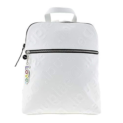 Desigual Damen Back_new Colorama Nanaimo Rucksackhandtasche, Weiß (Blanco), 11.00x35.50x28.00 cm