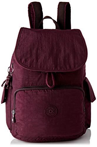 Kipling Damen City Pack Rucksack, Violett (Dark Plum), 32x37x18.5 centimeters