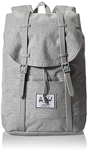 Herschel Unisex-Erwachsene Retreat Multipurpose Backpack, Hellgraue Schraffur/graue Gummi, Classic