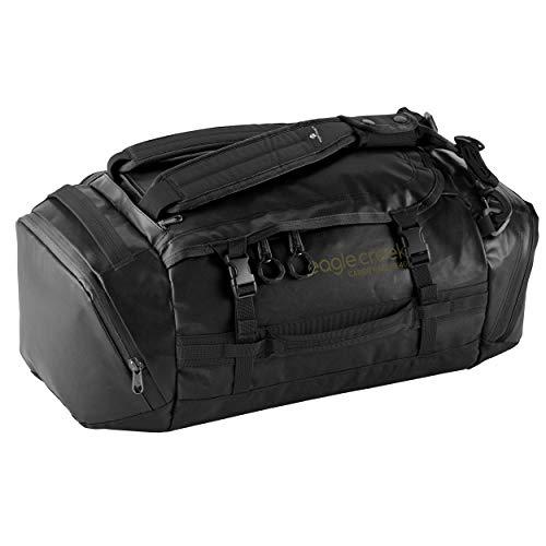 Eagle Creek Cargo Hauler Duffel Bag 40L, faltbare Reisetasche, aus abrieb- & wasserbeständigem TPU-Gewebe, Rucksack und Koffer in einem, Jet Black, S