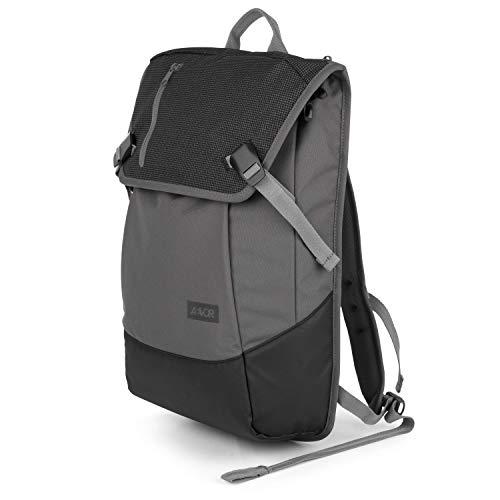 AEVOR Daypack Echo - erweiterbarer Rucksack, reflektierend, ergonomisch, Laptopfach, wasserabweisend, Black