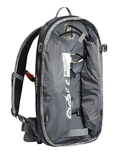 ABS Unisex– Erwachsene Lawinenrucksack Base Unit, Twinbags für mehr Sicherheit, verwendbar mit S.Light + P.Ride Compact Zipons und Carbon oder Stahl Auslöseeinheit, Rock Grey, One Size