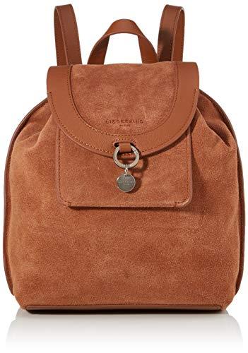 Liebeskind Berlin Damen Scouri 2 - Backpack Medium Rucksackhandtasche, Braun (Bourbon), 15x33x27 cm