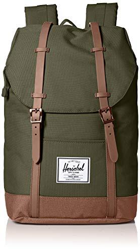 Herschel Unisex-Erwachsene Retreat Multipurpose Backpack, Dunkeloliv/Sattelbraun, Classic