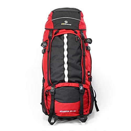 outdoorer Backpacker-Rucksack Atlantis 90+10 - Frontlader-Rucksack mit Frontöffnung, großer XXL Rucksack für Reisen, Backpacking