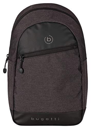 """Bugatti Universum Sling Bag Herren Groß - Crossbag mit 10"""" Tablet Fach - Brusttasche für Männer - Crossbody Crossover Tasche, Schwarz"""