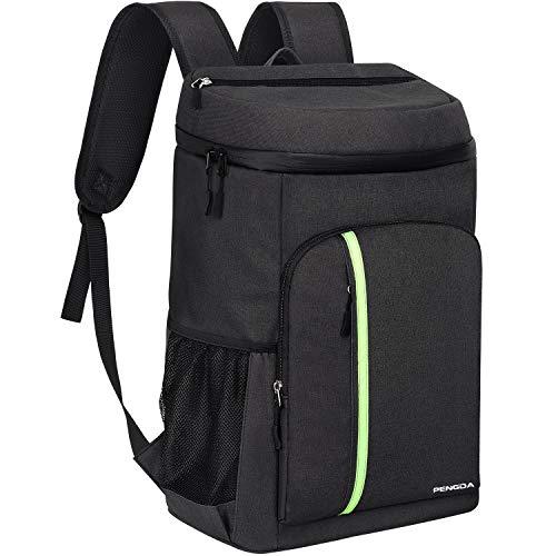PengDa 30L Kühl Rucksack Kühltasche - Groß Isoliert Kühlrucksack Wasserdichten Ultraleicht Rucksäcke Damen Herren Cooler Bag für Camping, BBQ, Wandern, Picknick (Schwarz)