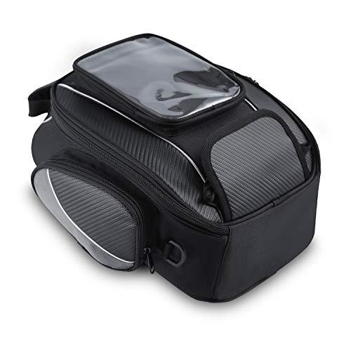 WILDKEN Motorrad Tankrucksäcke Wasserdicht Tank Tasche Beutel Umhängetasche Motorradtasche mit Starkem Magnetischem für Motorrad Motorcross (10L)