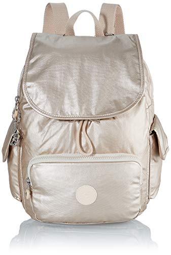 Kipling Damen City Pack S Rucksack, Gold (Cloud Metal), 27x33.5x19 cm