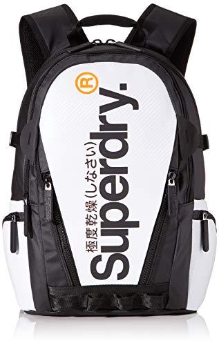 Superdry Herren Tarp Backpack Rucksack, Weiß (White), 11x45x34 cm