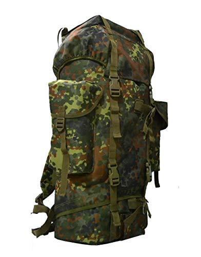 AR TACTICAL BW Kampfrucksack 65 Liter Outdoor Trekking Wandern Rucksack (Flecktarn)