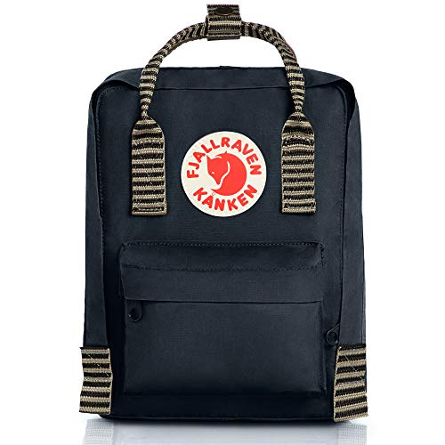 FJÄLLRÄVEN Unisex-Adult Kånken Mini Carry-On Luggage, Black-Striped, 29 Centimeters