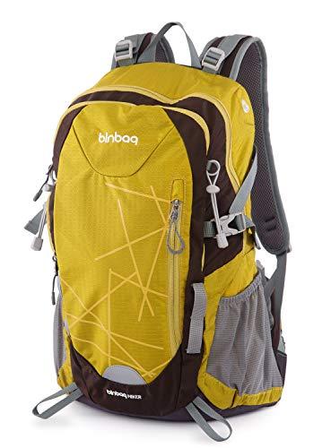 Hauptstadtkoffer blnbag S1-Leichter Wanderrucksack, Sportrucksack mit Regenschutz, FahrradrucksackTagesrucksack für Camping,Rucksack mit Hüftgurt, Unisex 20 Liter, Inka Gold