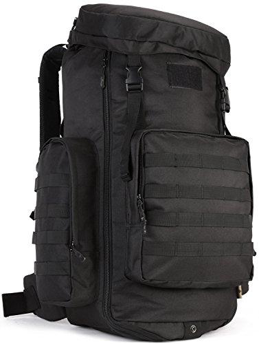 DCCN Tactical Rucksack 70–85L MOLLE Military Trekking Rucksäcke mit Regencape
