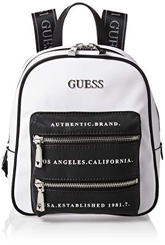 Guess Caley Rucksack aus Kunstleder Farbe weiß/schwarz Schultergurte Logos VG767432