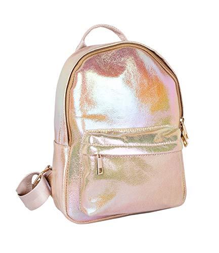 SIX Damen Rucksack in auffälligem Gold-metallic mit komfortabeln Riemen und sicherem Verschluss (726-719)