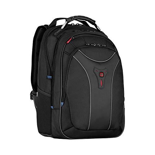 """Wenger 600637 CARBON 17"""" MacBook Pro Rucksack, gepolsterte Laptopfach mit Fall Stabalising Plattform in schwarz {25 Liter}"""