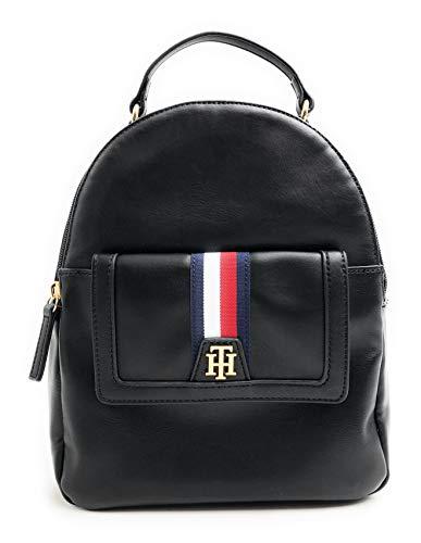 Tommy Hilfiger Rucksack - Cityrucksack - Minirucksack - Backpack - Freizeitrucksack - Schwarz - 25x25x15cm - Tragegriff - Handgepäck 4762