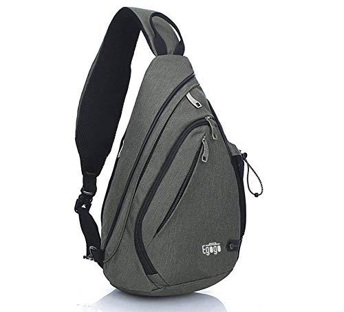 EGOGO Multifunktions Schultertasche Rucksack Crossbody Tasche Sling Tasche Wandern Dackpack ein sollte Schultergurt für Männer und Frauen (Dark Green)