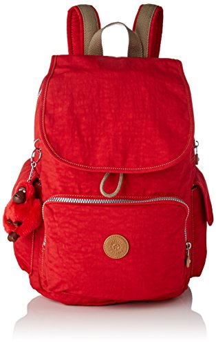 Kipling Damen City Pack Rucksack, Rot (True Red C), 32x37x18.5 cm