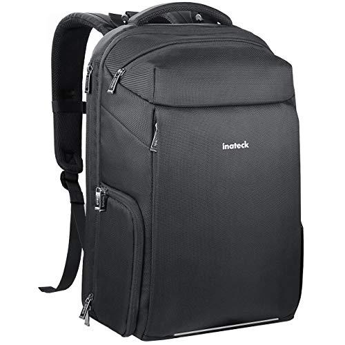 Inateck Kamerarucksack Rucksack Kamera Fotorucksack Kompatibel mit Canon Nikon Sony SLR/DSLR mit Laptop-Fach,Reiserucksack 15,6 Zoll Laptops, Zubehörfächer, Regenschutz