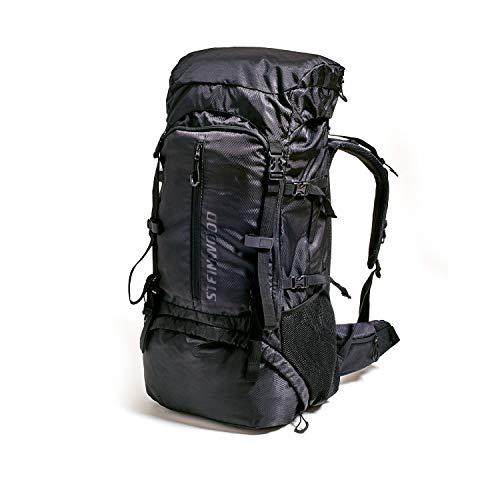 Steinwood Trekkingrucksack 70L - 80L – Wanderrucksack, Outdoor-Rucksack, Backpacker-Rucksack, wasserabweisend mit Regenhülle und Trinksystem