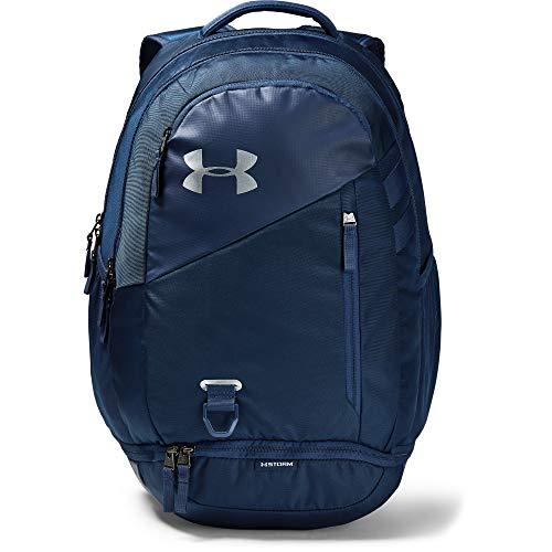 Under Armour Erwachsene Hustle 4.0 wasserabweisender Sportrucksack mit 26 L Volumen, Sporttasche mit praktischen Fächern, schwarz, Blau, Einheitsgröße