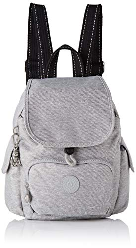 Kipling Damen City Pack Mini Rucksack, Grau (Chalk Grey), 27x29x14 Centimeters