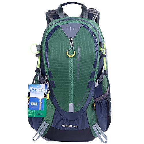 EGOGO 30L Wasserdicht Wanderrucksack Camping Rucksack mit Regenschutz Laufen Radfahren im Freien S2316 (Grün)
