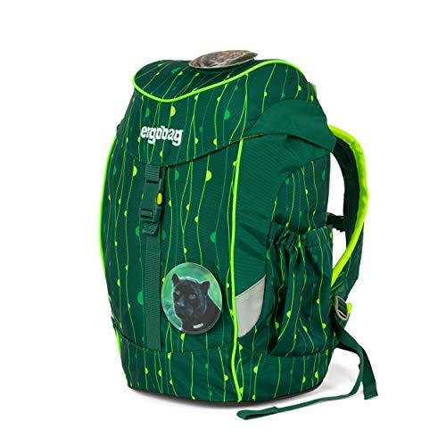 ergobag mini - ergonomischer Kinderrucksack, Kindergarten Vorschule, DIN A4, 10 Liter, 500 g - RambazamBär - Grün