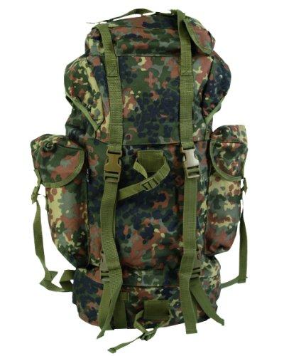 g8ds® BW Bundeswehr KAMPFRUCKSACK Flecktarn 65 l Outdoor Army Trekking Rucksack Armeerucksack