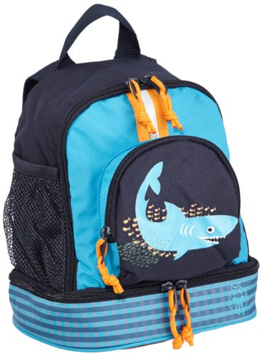 LÄSSIG Kinderrucksack Kindergartentasche mit Brustgurt/Mini Backpack Shark Ocean