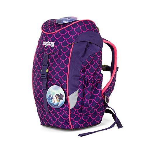 ergobag mini - ergonomischer Kinderrucksack, Kindergarten Vorschule, DIN A4, 10 Liter, 500 g - PerlentauchBär - Lila