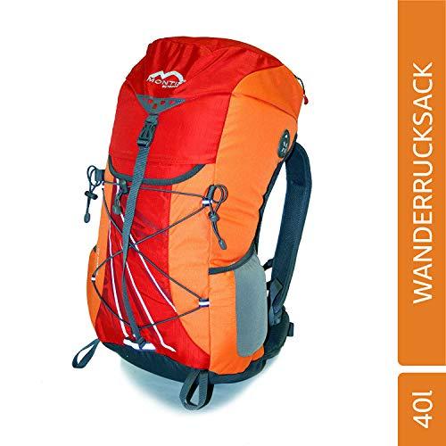 MONTIS PHINEX 40 Unisex Trekking-Rucksack, Wander-Rucksack & Reise-Rucksack in einem, ermöglicht Dank Regenschutz auch Bike- & Campingtouren, im modernen Look mit viel Extras & Belüftungssystem
