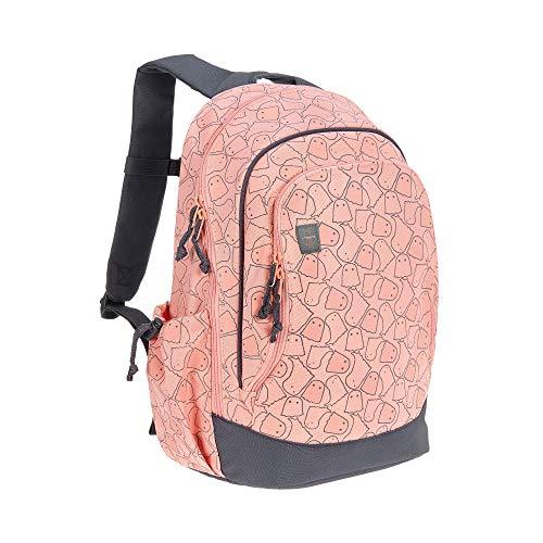 LÄSSIG Kinderrucksack Junge Kindergartentasche Kindergartenrucksack groß mit Brustgurt 5 Jahre / Backpack Big, Spooky, Peach, 42 cm, 14 L