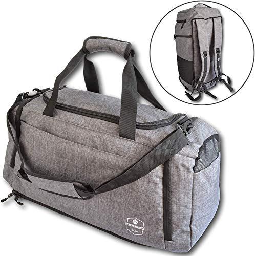Bearformance® Ultimate Sportbag - Sporttasche mit Schuhfach & Nassfach mit Rucksackfunktion für Sport, Training, Gym, Reise für Herren & Damen