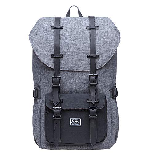 KAUKKO Rucksack für Städtetrips, Schule, Fahrrad und Wandertouren mit Laptopfach für 15 Zoll Notebook den täglichen Gebrauch, 20L