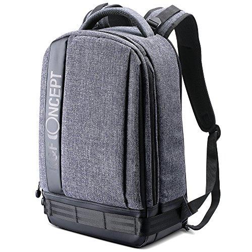 K&F Concept Kamerarucksack Fotorucksack Kamera Rucksack Spiegelreflex wasserdicht Camera Backpack Kameratasche für Canon Nikon Sony(eine DSLR, bis zu 6 Objektive)